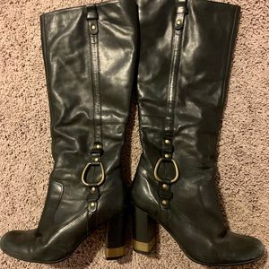 Steve Madden Freeway Tall Leather Black Boots